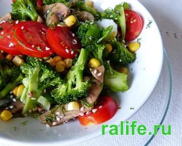 легкий салат на ужин